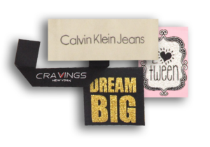 woven labels collage