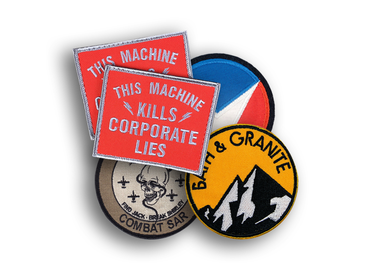 Corporate Patches collage