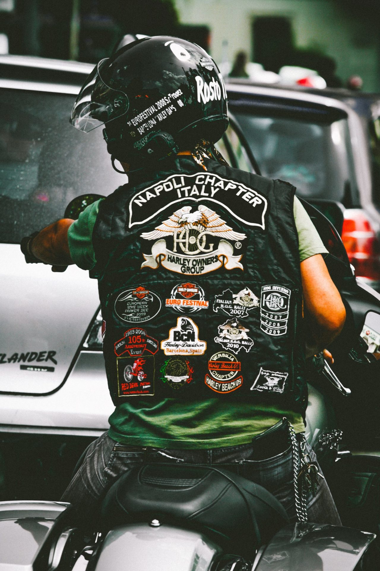 Motorbike Jacket With Patches