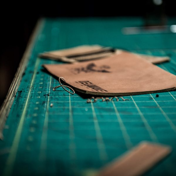 Making of leather patches
