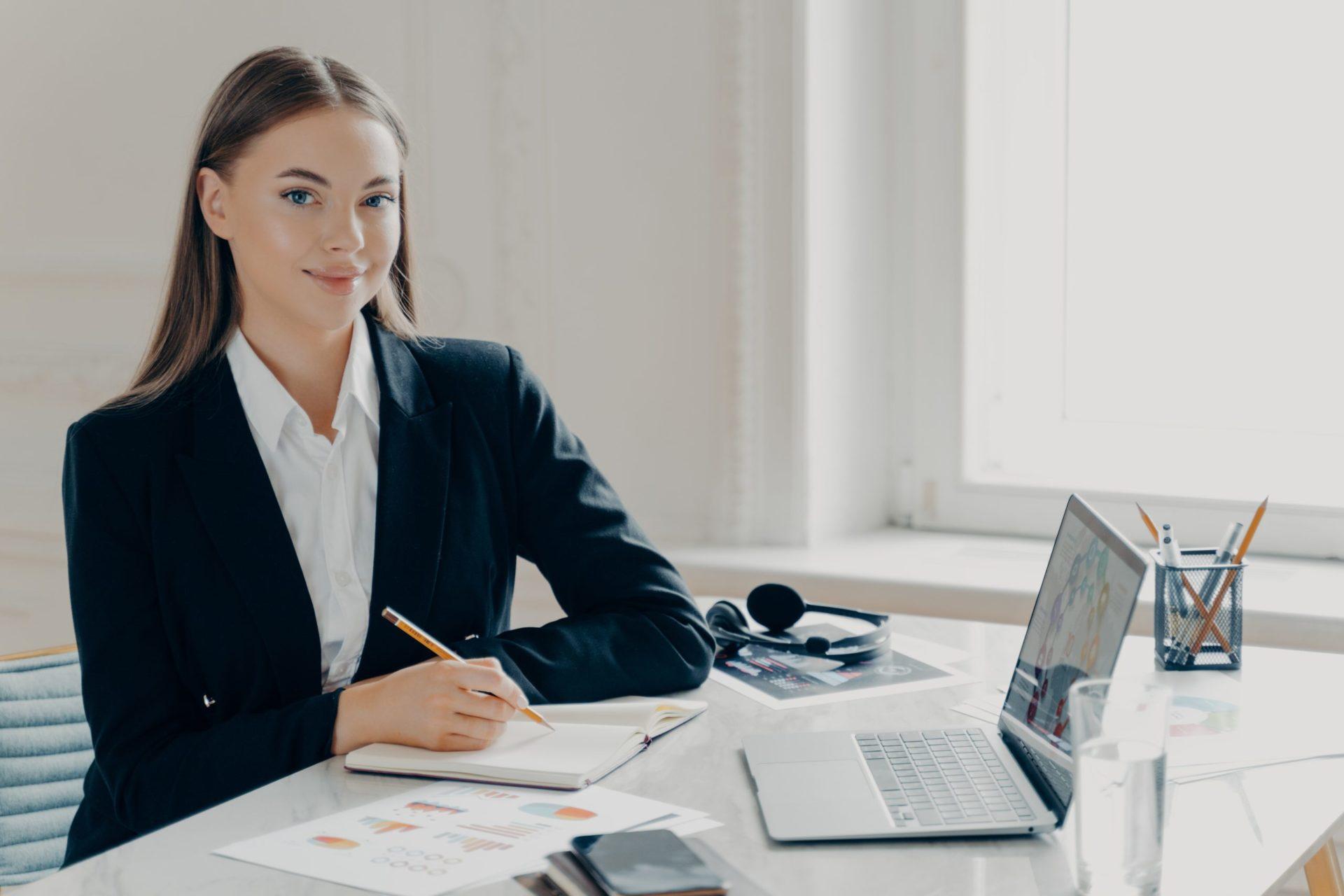 Bussiness Women Working in Office