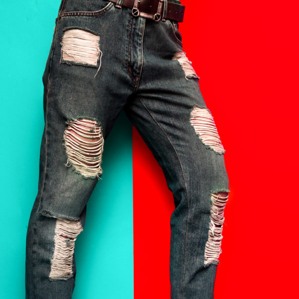 Jeans Torn Spots