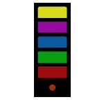 """4-6 Colors <br><p style=""""font-size: 11px;"""">Pvc design for 4-6 colors</p>"""