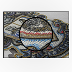 """No Backing <br><p style=""""font-size: 11px;"""">These patches will show the twill or <br>threads on the back of the patch.</p>"""