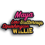 """Name Patch <br><p style=""""font-size: 11px;"""">Name patches can be customized to<br> any shape and size, from any material and<br> color you choose from.</p>"""