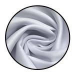 """White Polyester Twill<br><p style=""""font-size: 11px;"""">White Polyester Twill is an excellent quality <br>fabric with a good weight, popular for its durable<br> and long-lasting qualities.</p>"""
