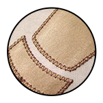 """Zig zag line stitching<br><p style=""""font-size: 11px;"""">This stitch can be used to reinforce the <br>edges of your seams.</p>"""